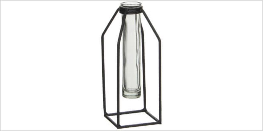 Dhaka Single Flower Vase - Black from I Want One Of Those