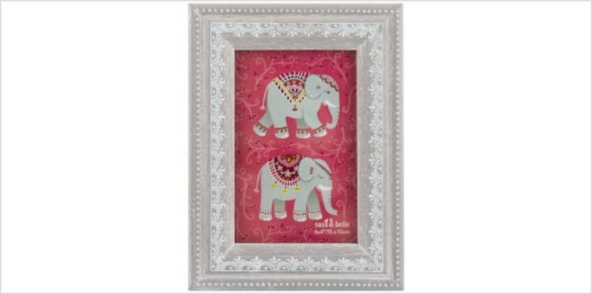 Sass & Belle Mandala Elephant Henna Pattern Photo Frame from I Want One Of Those
