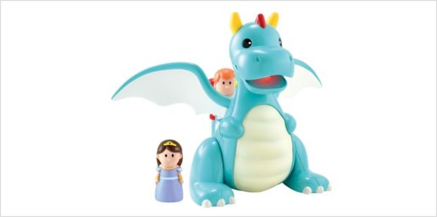 Happyland Lights and Sounds Dragon Playset | interactive light & sound toys | ELC from Early Learning Center