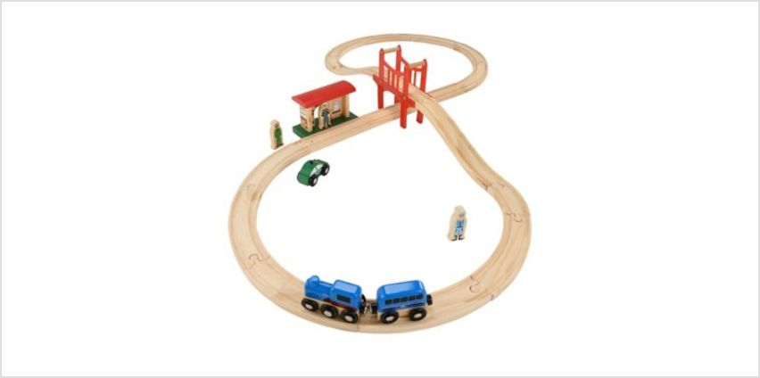 Big City Figure of 8 Wooden Rail Set | planes & trains | ELC from Early Learning Center
