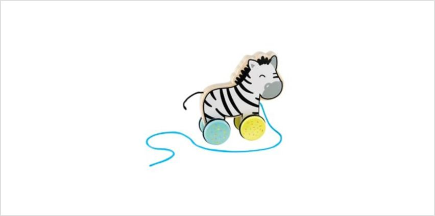 wooden pull along zebra | baby active toys | ELC from Early Learning Center