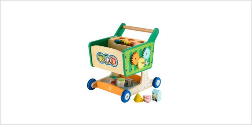 Wooden Shopping Trolley | classic wooden toys | ELC from Early Learning Center
