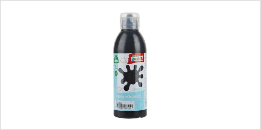 Black Ready Mix Paint 300ml | art essentials | ELC from Early Learning Center