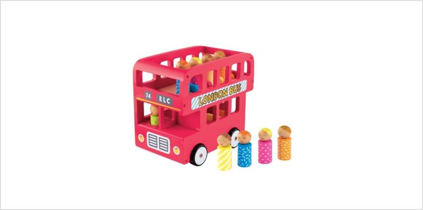elc wooden london bus | classic wooden toys | ELC from Early Learning Center