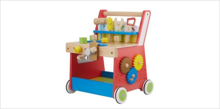 ELC Wooden Activity Workbench Walker | 1st birthday gift ideas | ELC from Early Learning Center