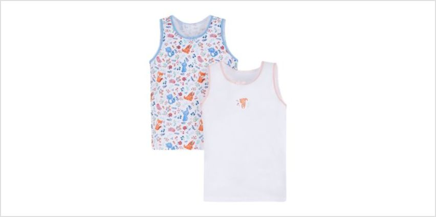 woodland animal vests - 2 pack from Mothercare