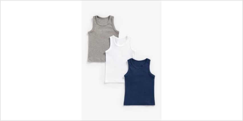 marls vests - 3 pack from Mothercare