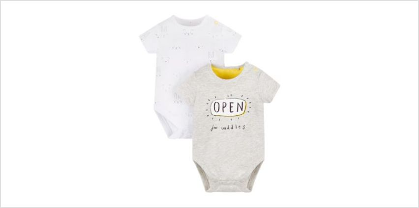 open for cuddles bodysuit - 2 pack from Mothercare
