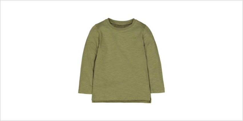 green t-shirt from Mothercare