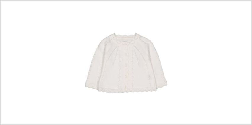 white pointelle knit cardigan from Mothercare