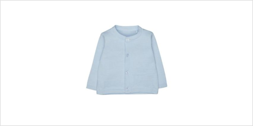 blue train cardigan from Mothercare