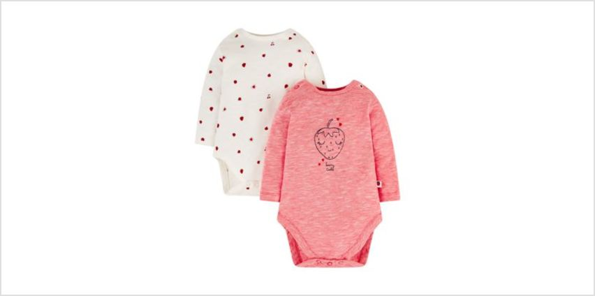 strawberry frill bodysuits - 2 pack from Mothercare