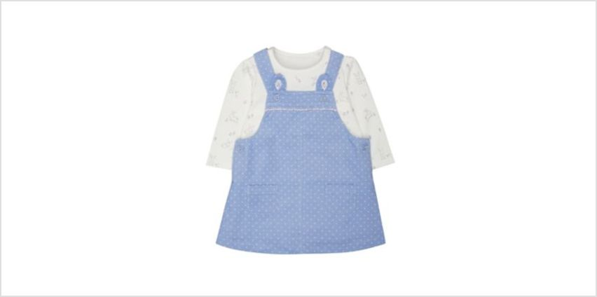 spotty pinny and bodysuit set from Mothercare