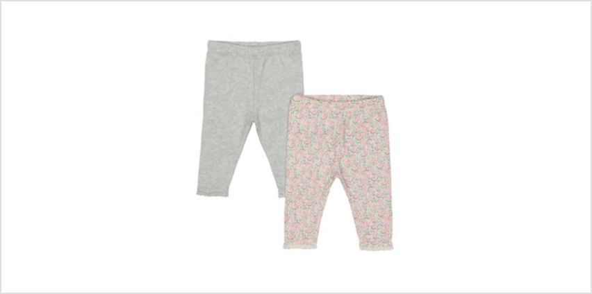 grey and floral leggings – 2 pack from Mothercare