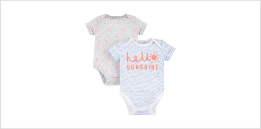 hello sunshine and jungle bodysuits – 2 pack from Mothercare