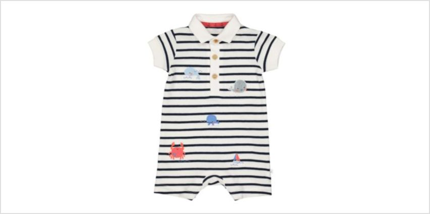 whale polo romper from Mothercare