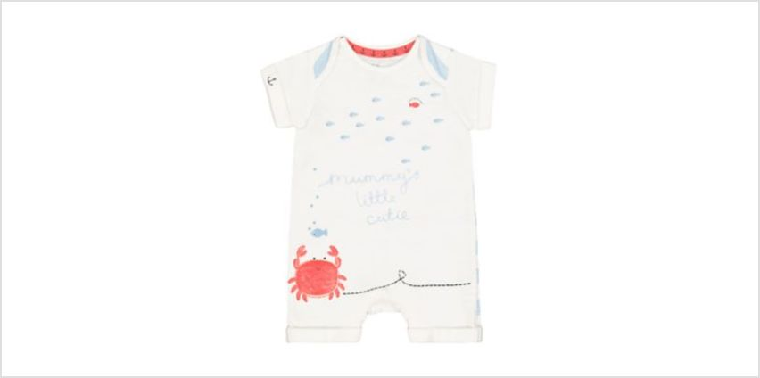 mummy crab romper from Mothercare