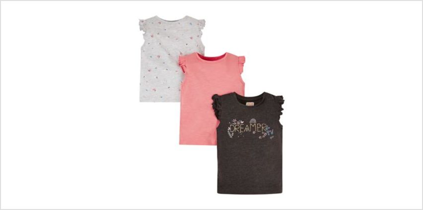 dreamer t-shirt - 3 pack from Mothercare