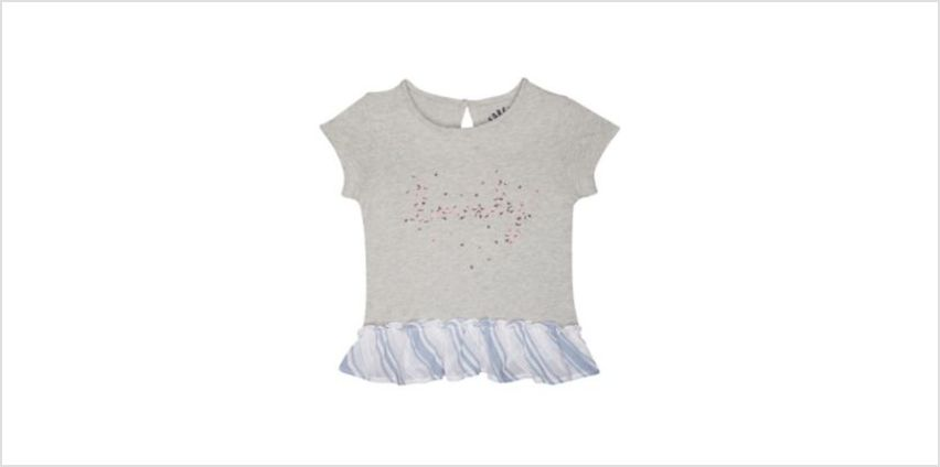 lovely floral frill grey t-shirt from Mothercare