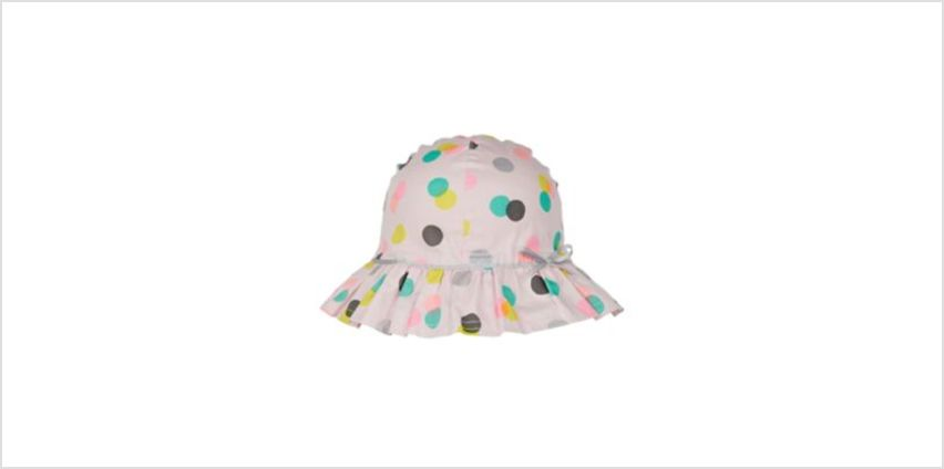 back to nursery pink spot sun hat from Mothercare