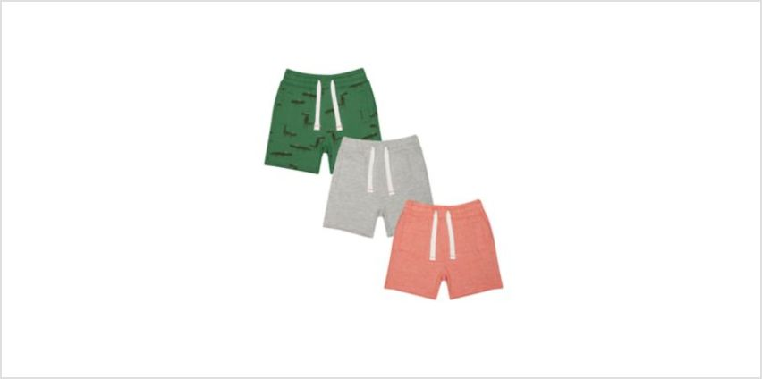 dino and stripe shorts - 3 pack from Mothercare