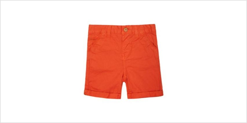 orange twill shorts from Mothercare
