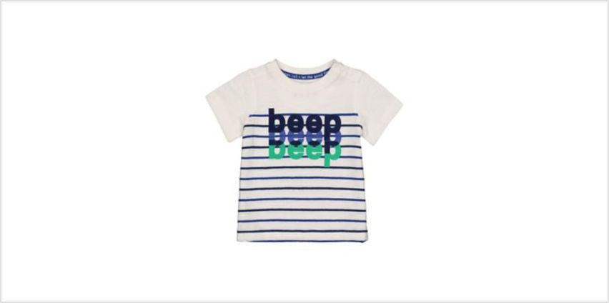 beep stripe t-shirt from Mothercare