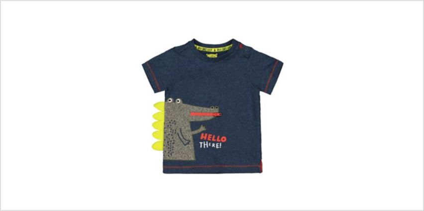 hello there crocodile navy t-shirt from Mothercare
