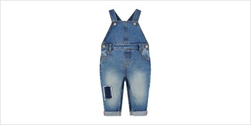 patch denim dungarees from Mothercare