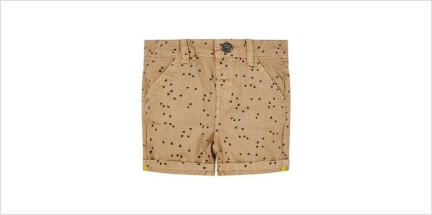 tan geometric print chino shorts from Mothercare