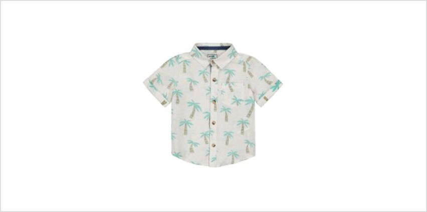 white palm tree shirt from Mothercare
