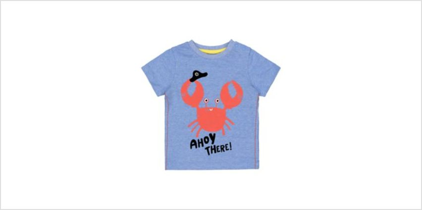 blue ahoy there crab t-shirt from Mothercare