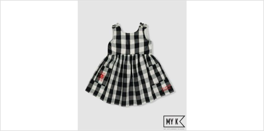 my k black and white gingham dress from Mothercare