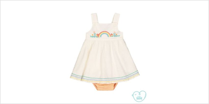 little bird dress and bloomers set from Mothercare