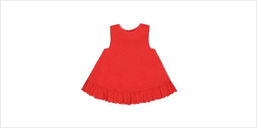 red scallop hem broderie blouse from Mothercare