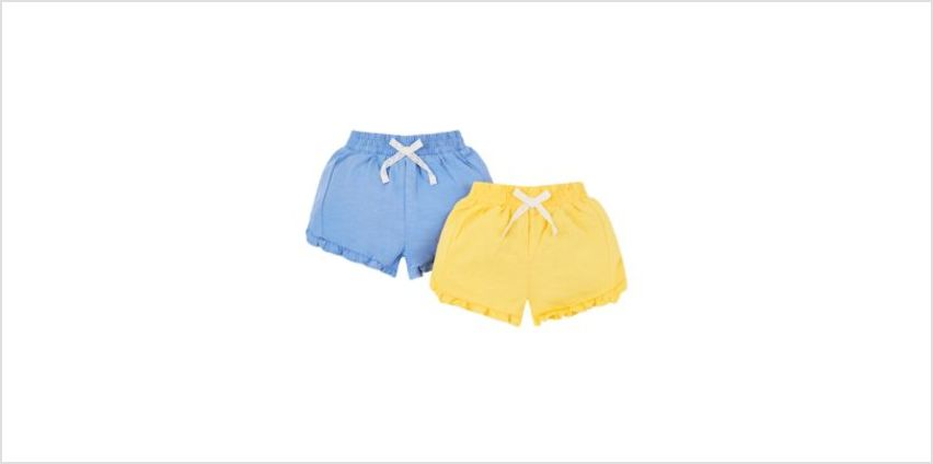 yellow and blue shorts - 2 pack from Mothercare