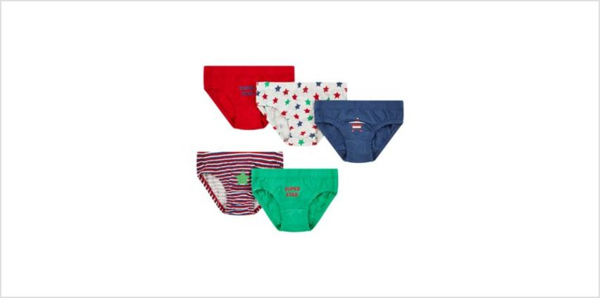 star and stripe briefs - 5 pack from Mothercare