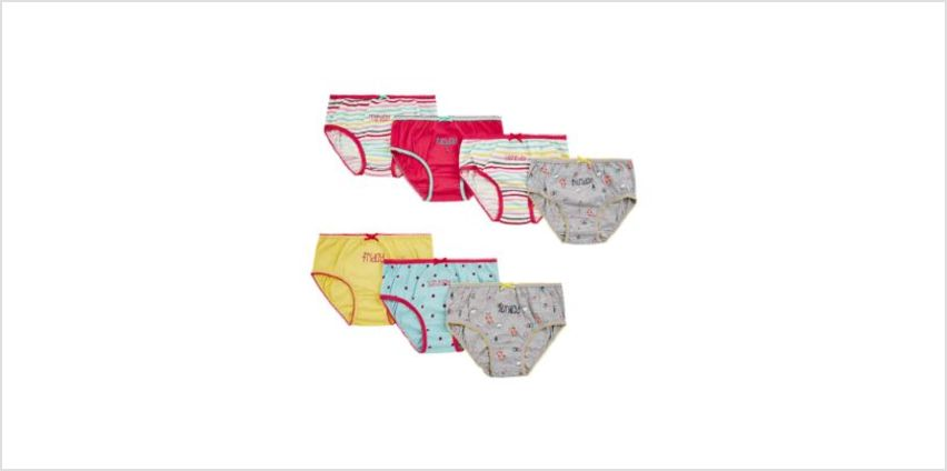days of the week briefs - 7 pack from Mothercare