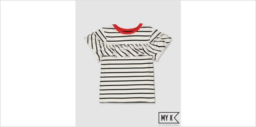 my k striped frill t-shirt from Mothercare