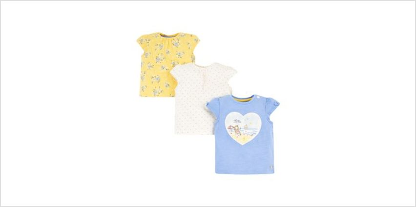 girl, blue and floral t-shirts – 3 pack from Mothercare