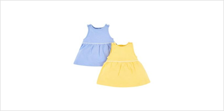 blue and yellow bow vests - 2 pack from Mothercare