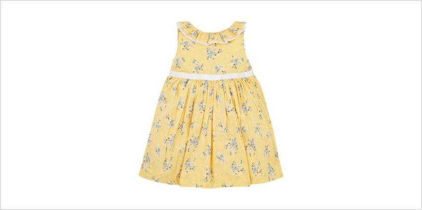 yellow floral dress from Mothercare