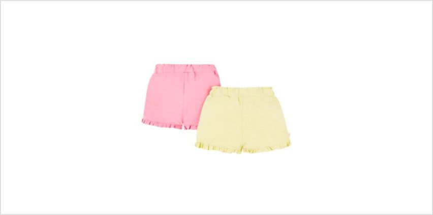 pink and yellow frill shorts – 2 pack from Mothercare