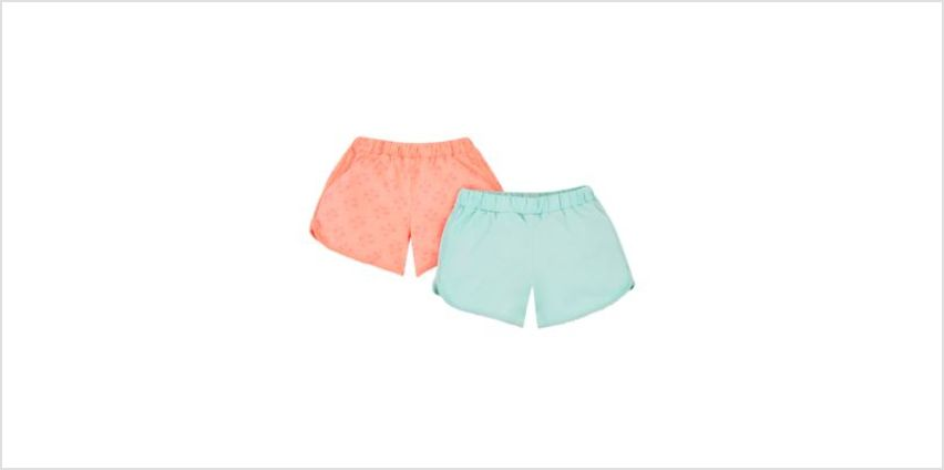 neon palm tree shorts - 2 pack from Mothercare