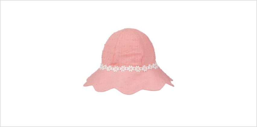 pink dobby sun hat from Mothercare
