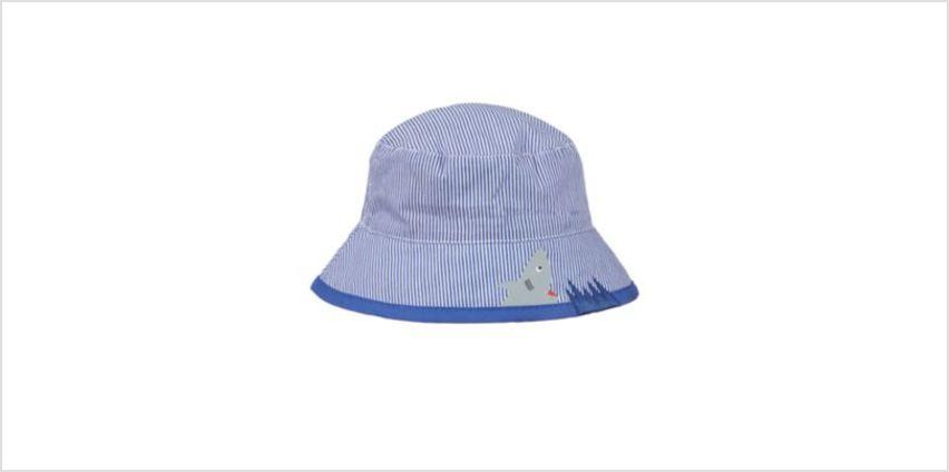 blue shark bite stripe fisherman sun hat from Mothercare