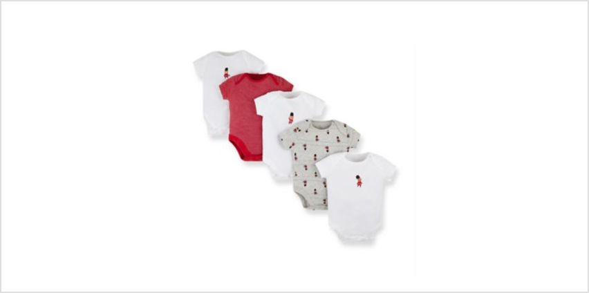 london bear guardsmen bodysuits - 5 pack from Mothercare