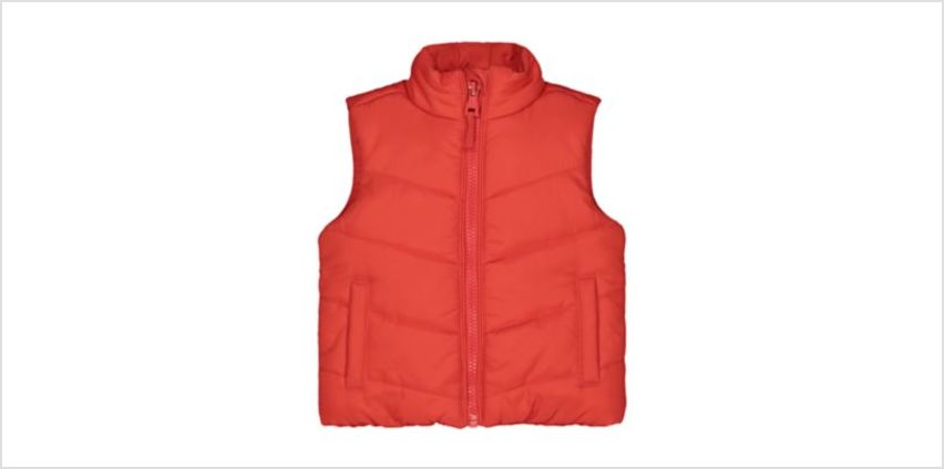 red fleece-lined gilet from Mothercare