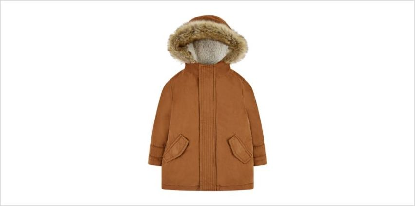 tan peached coat from Mothercare