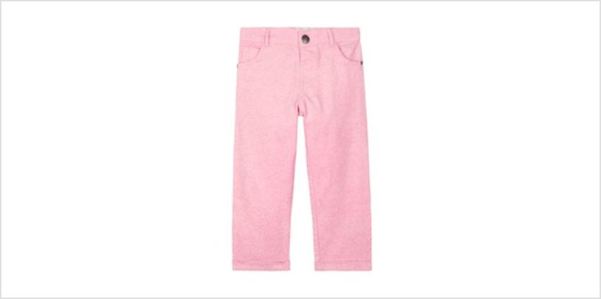pink glitter cord trousers from Mothercare